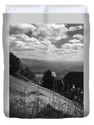 Flowers At Table Rock Overlook In Black And White Two Duvet Cover