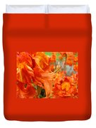 Flowers Azalea Garden Orange Azalea Flowers 1 Giclee Prints Baslee Troutman Duvet Cover
