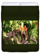 Flowers' Bench Duvet Cover