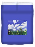 Flowers Bright Field Duvet Cover