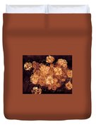 Flowers, Buttons And Ribbons -shades Of  Chocolate Mocha Duvet Cover