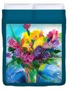 Flowers For My Jesus Duvet Cover