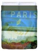 Flowers For Paris Duvet Cover