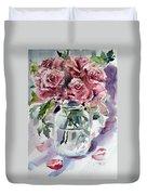 Flowers From The Garden Duvet Cover