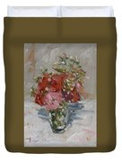 Flowers In A Glass Duvet Cover
