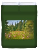 Flowers In A Mountain Glade Duvet Cover