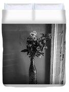 Flowers In A Peculiar Vase Duvet Cover