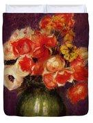 Flowers In A Vase 1901 Duvet Cover