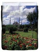 Flowers In Sultanahmet Square Duvet Cover