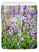 Flowers In The Field  Duvet Cover