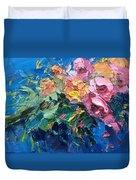 Flowers In The Water Duvet Cover