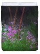 Flowers In The Woods Duvet Cover