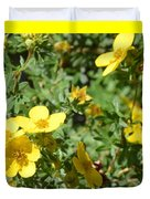 Flowers In The Yard Duvet Cover