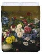 Flowers In Three Vases 1879 Duvet Cover