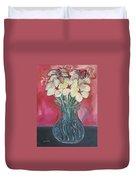 Flowers Inside Glass Pitcher Duvet Cover