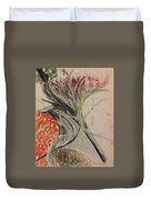 Flowers No 2 Duvet Cover by Gregory Dallum