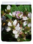 Flowers Of Berries Duvet Cover