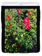 Flowers Of Bethany Beach - Hibiscus And Black-eyed Susams Duvet Cover