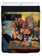 Flowers Of France Duvet Cover