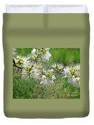 Flowers Of The Blackthorn Shrub Duvet Cover