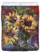 Flowers Of The Gods Duvet Cover