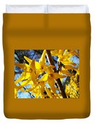 Flowers Of The Sky Duvet Cover