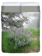 Flowers On A Foggy Day Duvet Cover