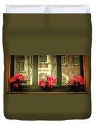 Flowers On A Ledge Duvet Cover
