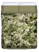 Flowers On A Plum Tree Duvet Cover
