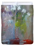 Flowers On A Table Duvet Cover