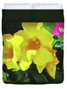 Flowers On Deck Duvet Cover