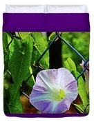 Flowers On The Fence 1 Duvet Cover