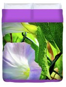 Flowers On The Fence Duvet Cover