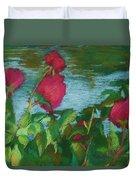 Flowers On Water Duvet Cover