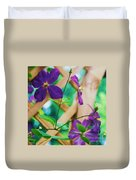Flowers Purple Duvet Cover