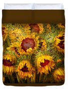 Flowers - Sunflowers - You're My Only Sunshine Duvet Cover by Mike Savad