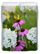Flowers That Contrast Duvet Cover