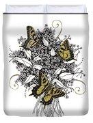 Flowers That Flutter Duvet Cover