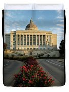 Flowers To The Capital Duvet Cover