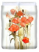 Flowers Wet Duvet Cover