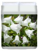 Flowers With Droplets 2 Duvet Cover