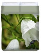 Flowers With Droplets 4 Duvet Cover