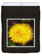 Flowery Acceptance In Abstract Duvet Cover