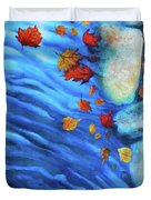 Flowing Fall Duvet Cover