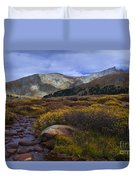 Flowing From Bierstadt Duvet Cover by Barbara Schultheis