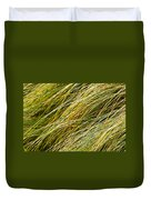 Flowing Green Grass  Abstract Duvet Cover
