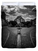 Flowing Street Of Kosice Duvet Cover