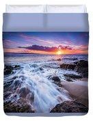 Flowing Sunset Duvet Cover