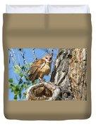 Fluffed Up Barn Owl Owlet Duvet Cover