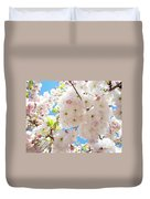Fluffy White Pink Sunlit Tree Blossom Art Print Canvas Baslee Troutman Duvet Cover